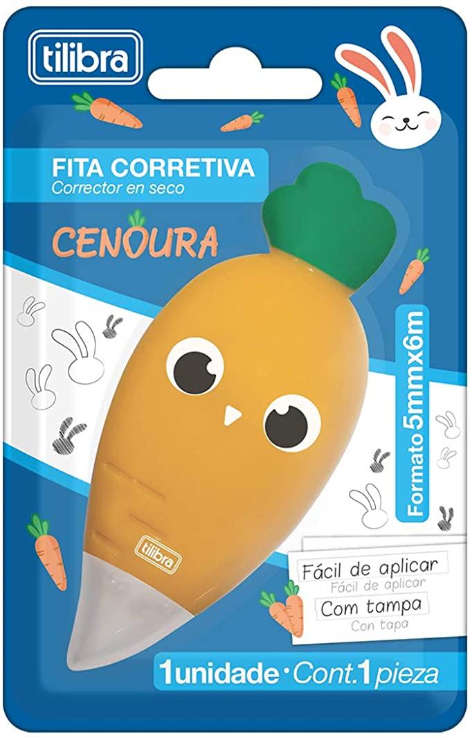 Corretivo em Fita Cenoura 5mmX6m | Tilibra