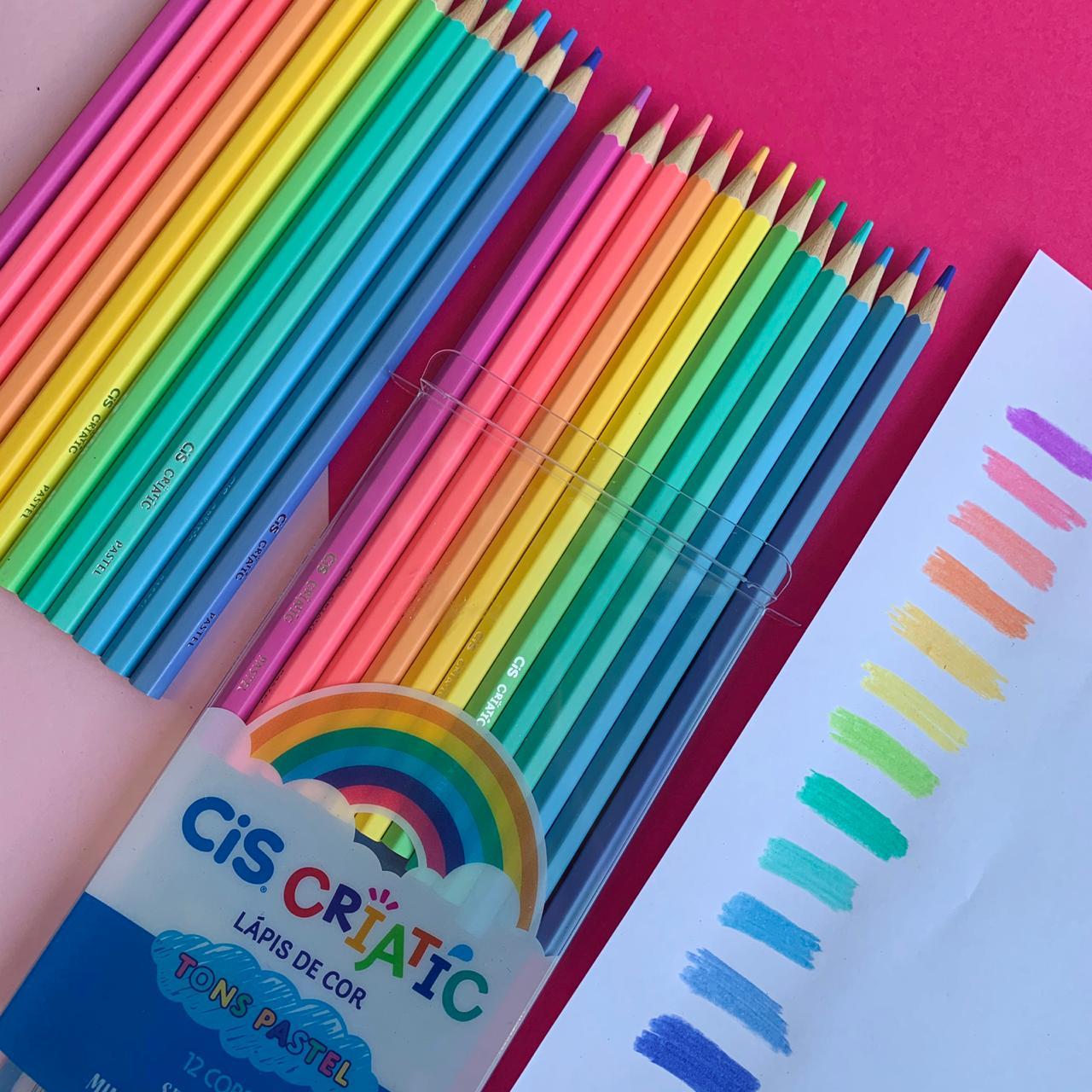 Lápis de cor Criatic Tons Pastel 12 Unidades | CiS