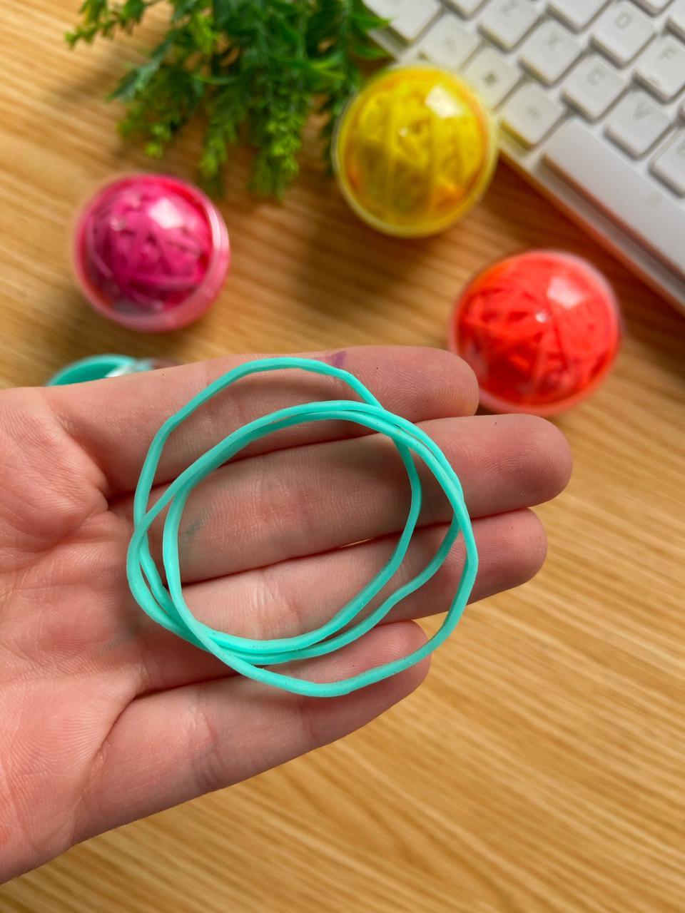 Elástico Bola Coloridas com 90 Unidades | Tilibra