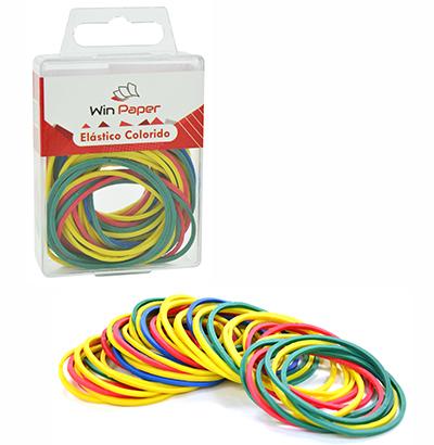 Elastico Colorido Multiuso Pequeno com 50 Unidades | Win Paper