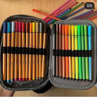Estojo 100 Pens Box Jumbo Prada Rosa Claro   Fizz