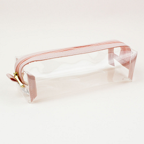 Estojo Baú  Cristal Rosa Tons Pastel   Fizz