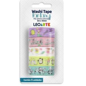 Fita Adesiva Decorada Washi Tape 5MX15MM com 5 Panda Fantasy | Leonora