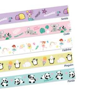Fita Adesiva Decorada Washi Tape 5MX15MM com 5 Panda Fantasy | Leonora