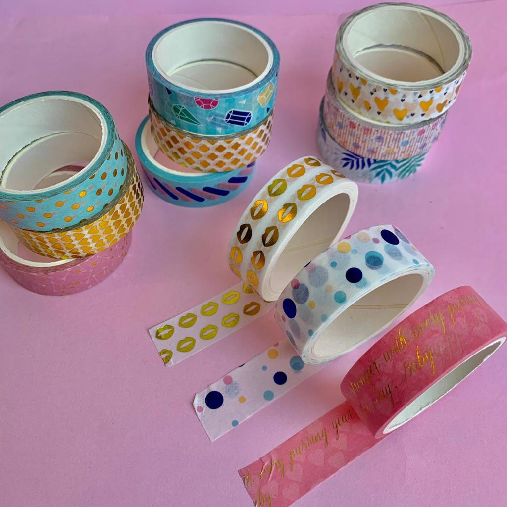 Fita Adesiva Decorativa Washi Tape Love com 3 | Molin