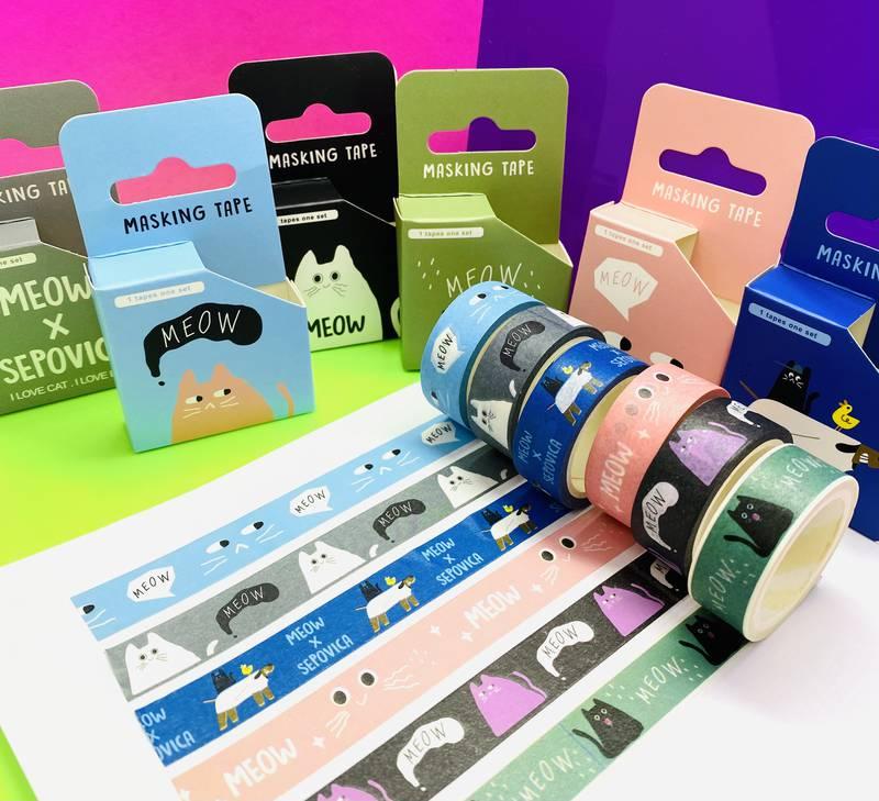 Fita Adesiva Washi Tape 5m Meow   Importado