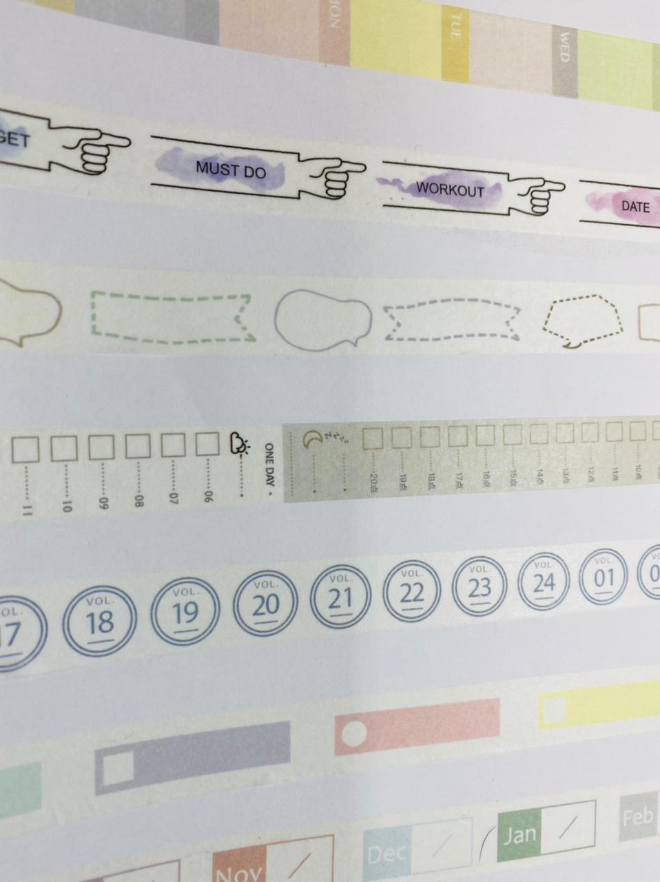 Fita Adesiva Washi Tape 7m Planner | Importado