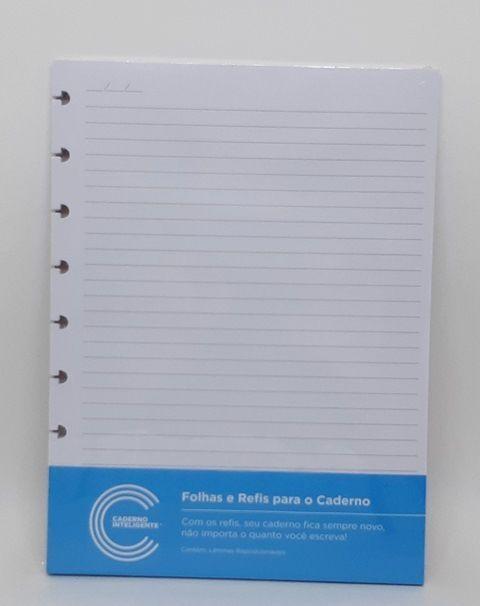 Folha e Refil Pautado Médio | Caderno Inteligente