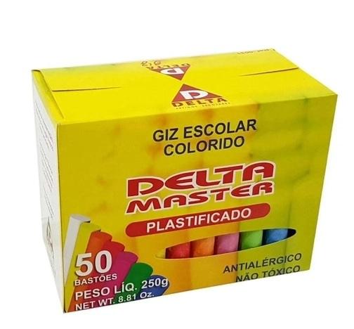 Giz Escolar Colorido | Delta