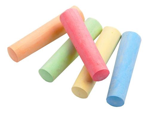 Giz Escolar Plastificado color gizão 8 unidades   Calac