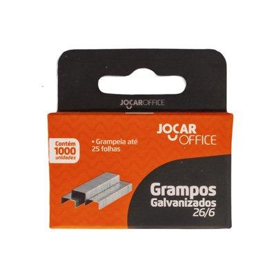 Grampo galvanizado 26/6 1000 unidades Jocar Office | Leonora