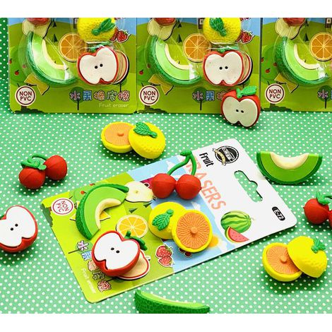 Kit Borracha Fruit com 5    Importado