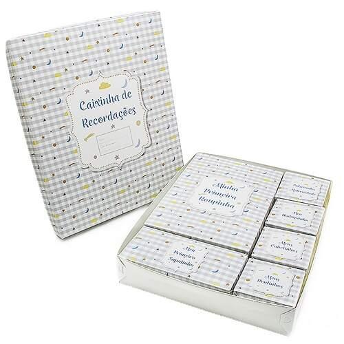 Kit Caixa Recordação Bebê Pequenos Astros | Dello