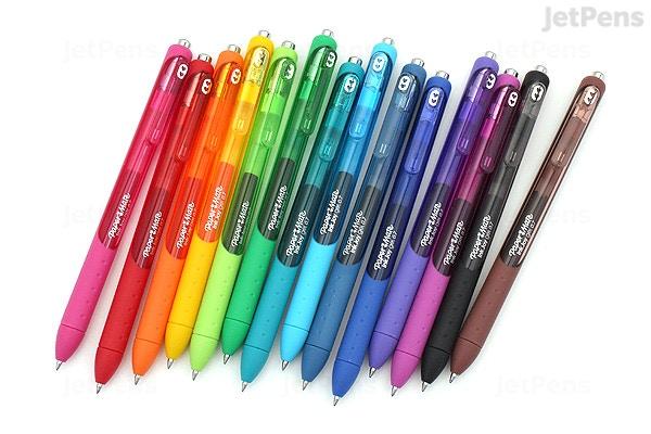 Kit Caneta Gel 14 cores  0.7 mm com tampa InkJoy Secagem Ultra Rapida Canhotos | Paper Mate