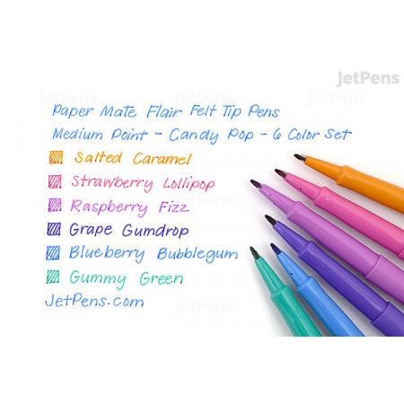 Kit Caneta Hidrográfica Flair 6 cores Candy Pop Tons   Paper Mate