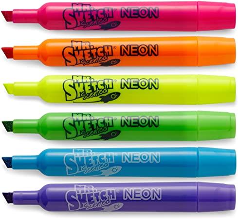 Kit Caneta Marca Texto Neon 6 Com Cheirinho Cores Mr Sketch Scented | Mr Sketch