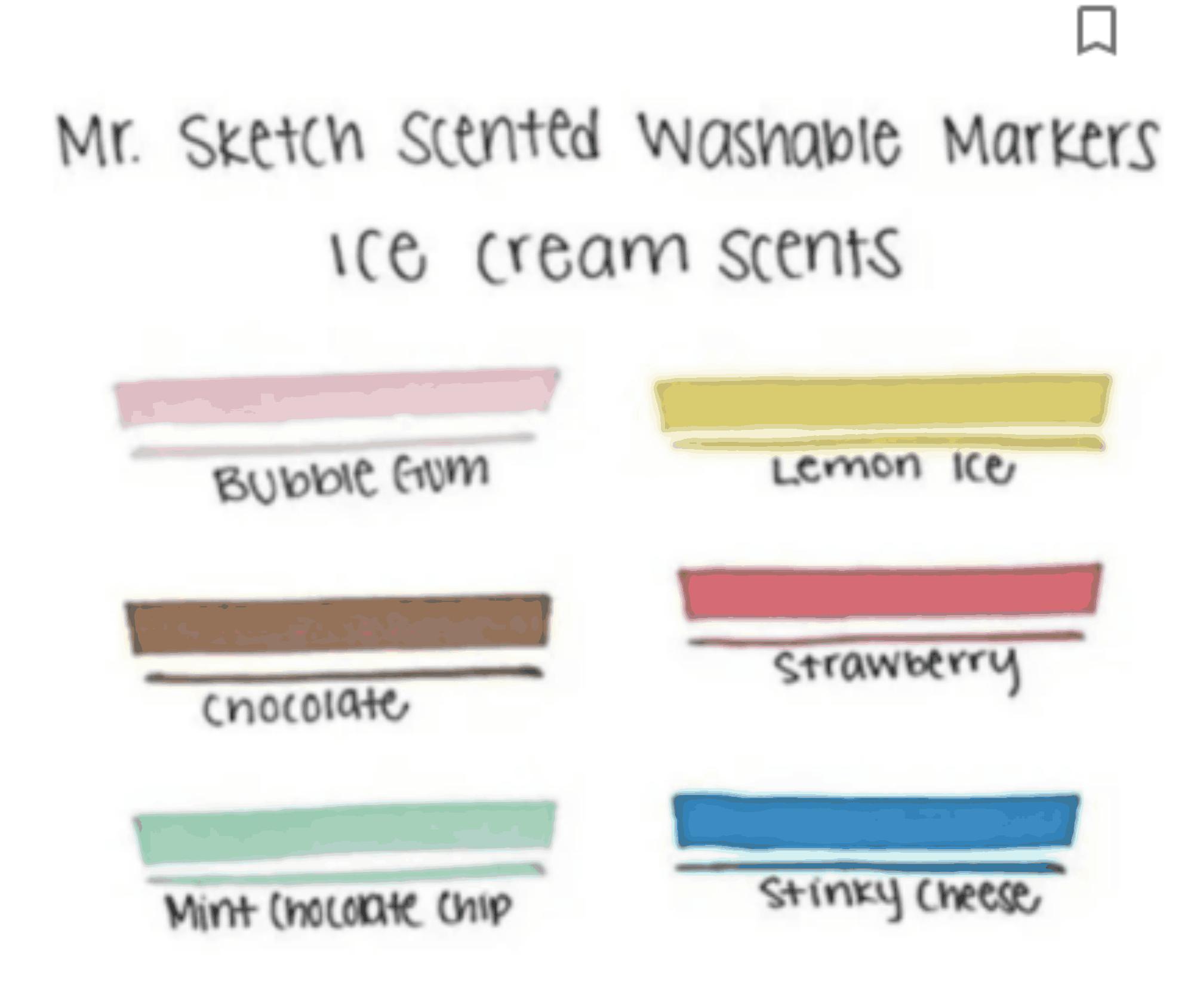 Kit Caneta Marca Texto Pastel 6 Cores Com Cheirinho Cores Mr Sketch Scented | Mr Sketch