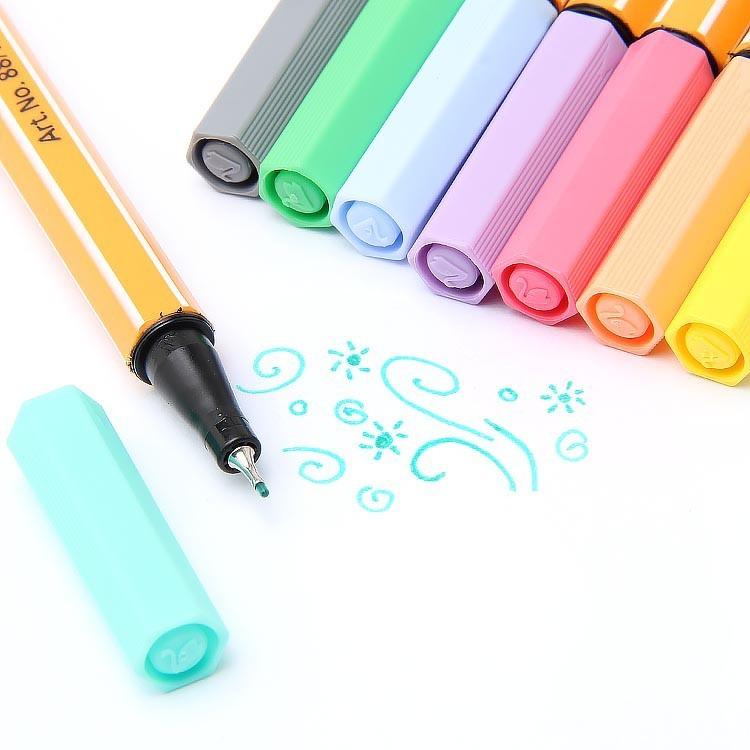 Kit Caneta Stabilo Fine Point 88 0.4 com 8 cores Pastel | Stabilo