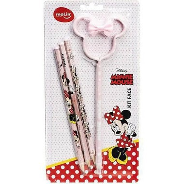 Kit Escolar Face Minnie Mouse Tom Pastel | Molin
