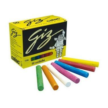 Kit Lousa 3 peças - Apagador, 50 Giz Coloridos Callac e Plastico adesivo preto fosco Leotack 1,5m x 45 cm