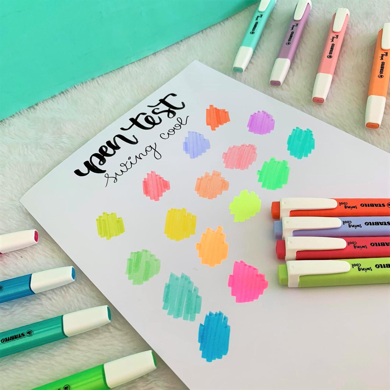 Kit Marca Texto Swing Cool com 4 cores Pastéis| Stabilo