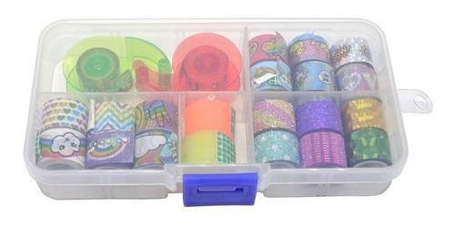 Kit Fita Adesiva Washi Tape Mini   Importado