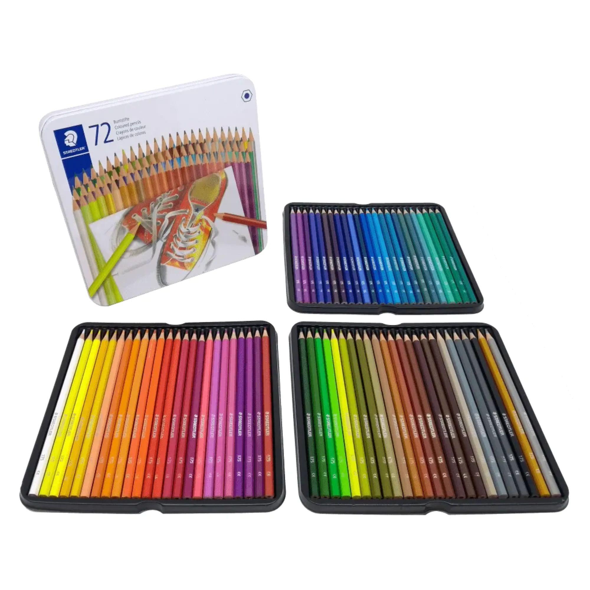 Lápis de Cor 72 cores Estojo Lata   Staedtler