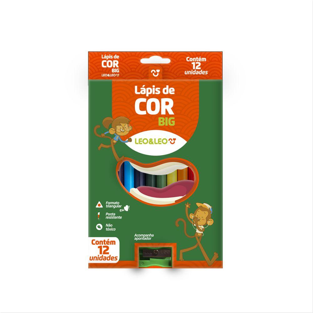 Lápis  de Cor Big 15cm 12 Cores | Leonora