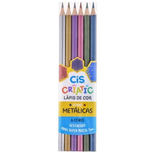 Lápis de Cor Criatic - Tons Metálicos | CiS