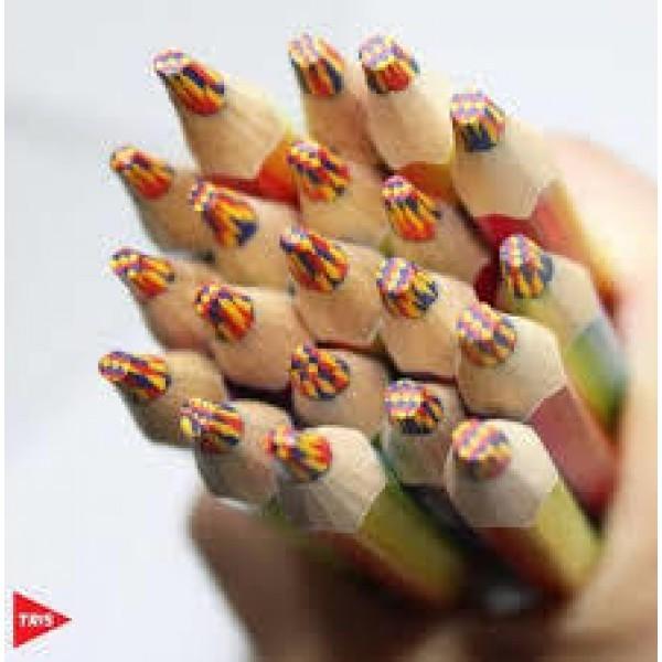 Lápis de Cor Jumbo Rainbow Multicor | Tris