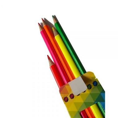 Lápis de Cor Mega Soft Color 6 Cores Neon |Tris
