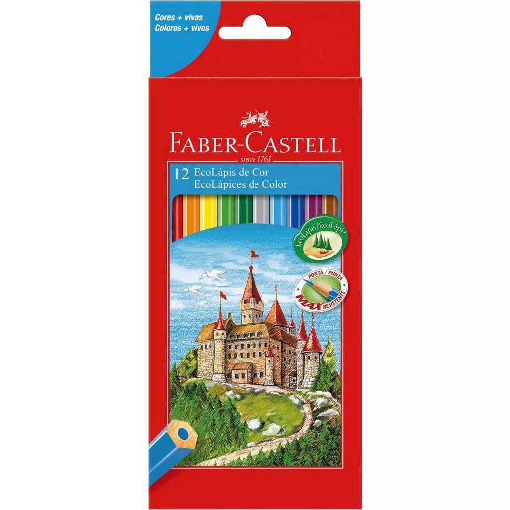 Lápis de cor sextavado 12 Cores   Faber-Castell
