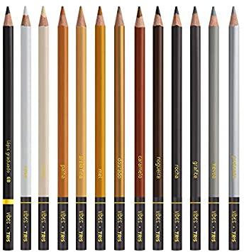 Lápis De Cor Vibes Tons Escandinavos 12 Cores e 1 Lapis 6B | Tris