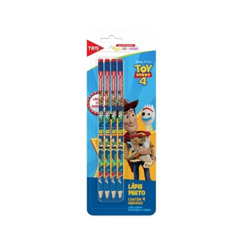 Lápis Grafite Toy Story 4 com 4 unidades | Tris