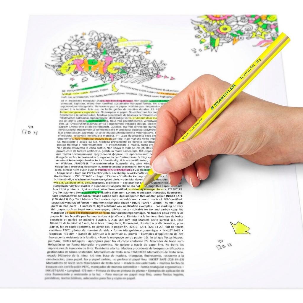 Lápis Marca Texto Textsurfer Dry - Cores Variadas | Staedtler