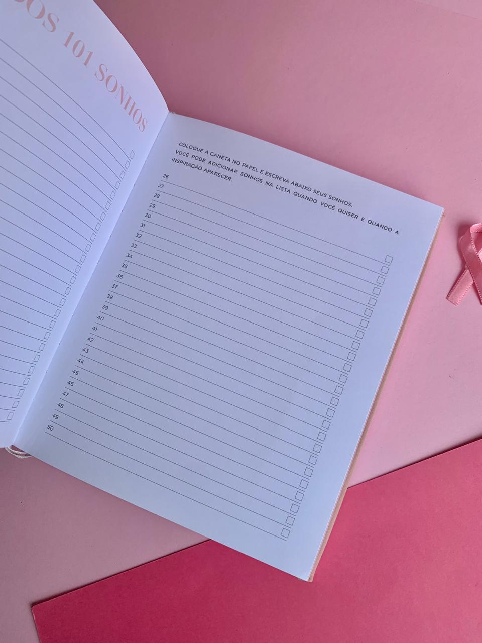 Livro de Anotações dos Sonhos 160 folhas   Dac