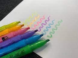 Marca Texto Fluorescente Com Glitter | Molin