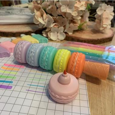 Marca Texto Macaron em Tom Pastel | Kit 6 Cores
