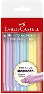 Marca Texto Tons Pastel Grifpen Estojo com 6 cores | Faber-Castell