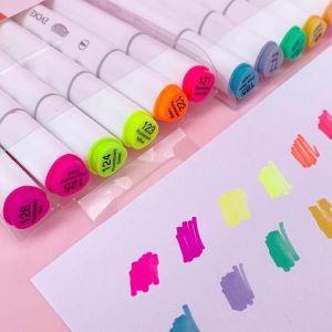 Marcador Artístico Evoke Dual Marker Neon 6 Cores   BRW