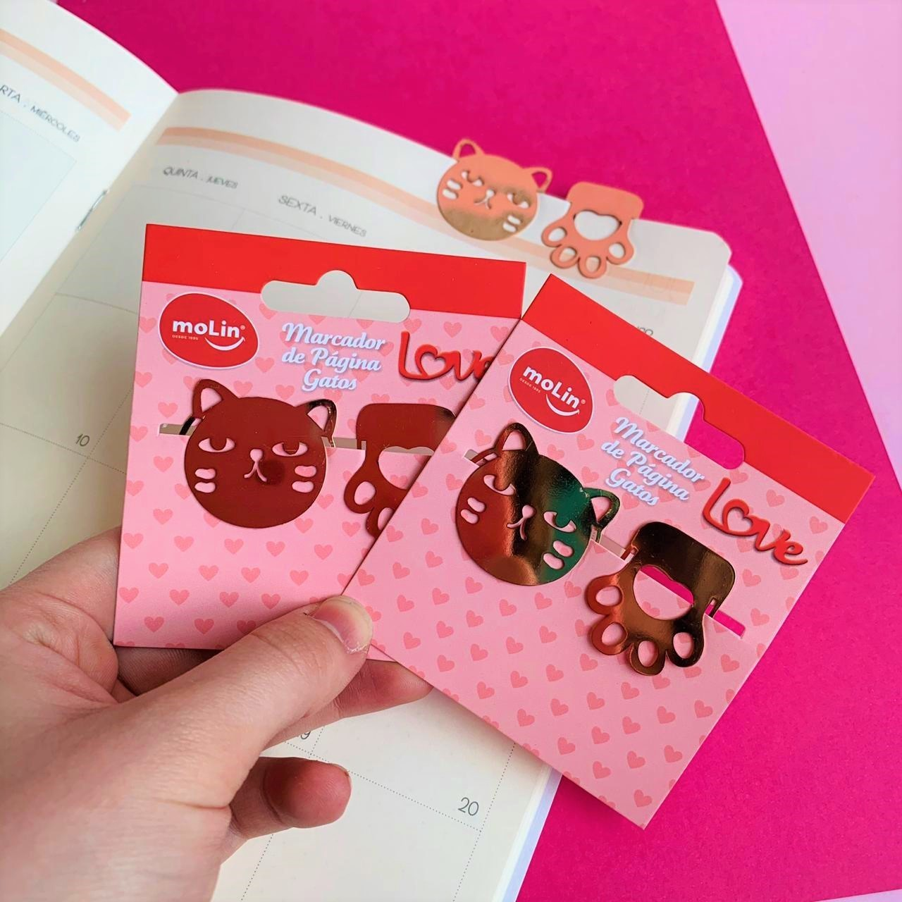 Marcador de página Gatos Love   Molin