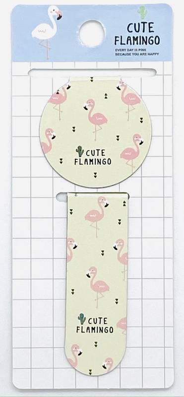 Marcador de Paginas Magnético Flamingo com 2 und | Importado