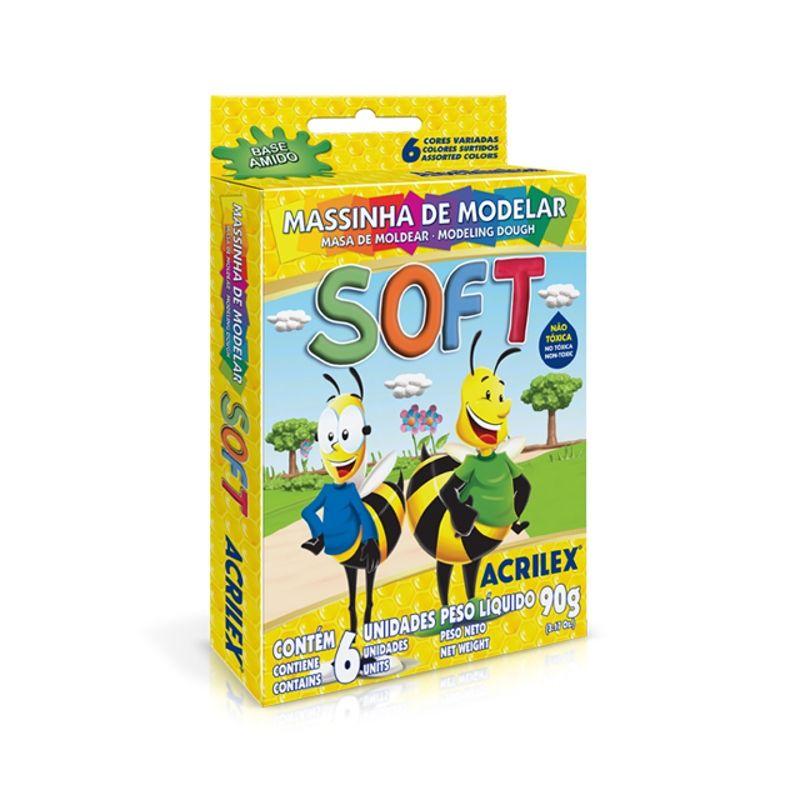 Massinha para modelar Soft  90g | 06 Cores | Acrilex