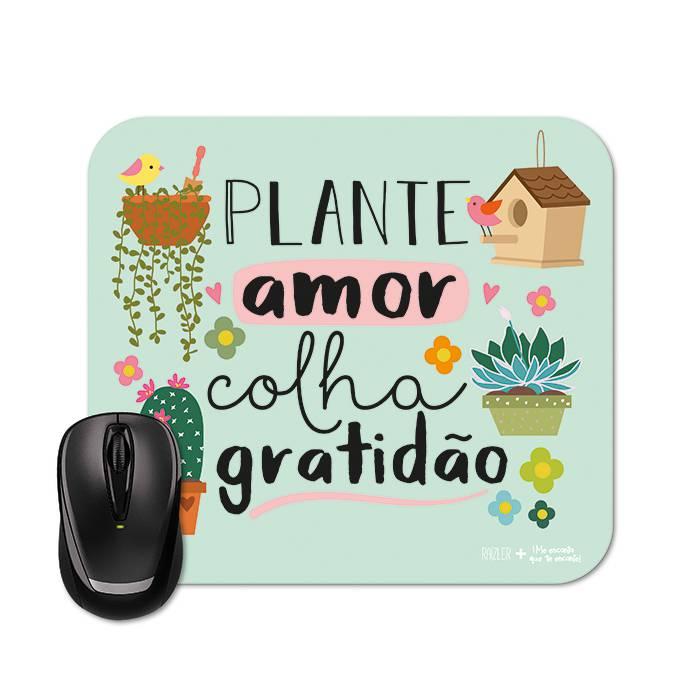 Mouse Pad Me Encanta - Gratidão |Raizler