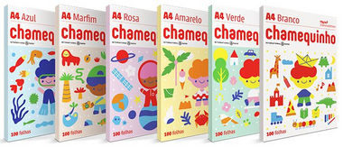 Papel sulfite Chamequinho Colors pct. 100 folhas unid 75g A4 210x297mm | Chamex
