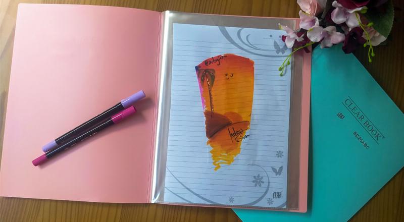 Pasta Catalogo Clear Book  com 20 Envelopes   PlastPark