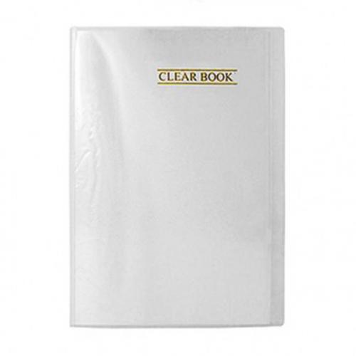 Pasta Catalogo Transparente Clear Book com 20 envelopes | Plastpask