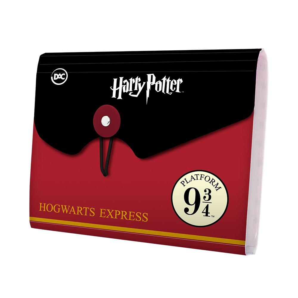 Pasta Sanfonada A6 com 5 divisões Harry Potter | Dac