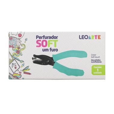 Perfurador Um Furo Soft Touch Verde | Leonora
