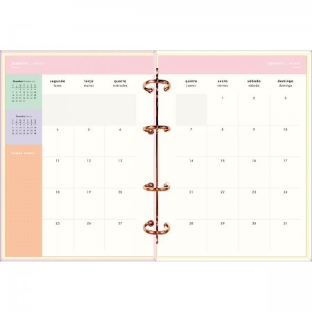 Planner Argolado Happy Rosa 2021   Tilibra